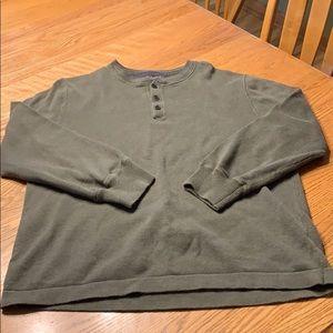 Sage green Henley sweater